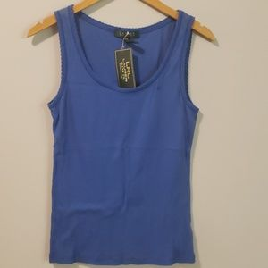 Ralph Lauren Jeans Co Blue Ribbed Tank New PM